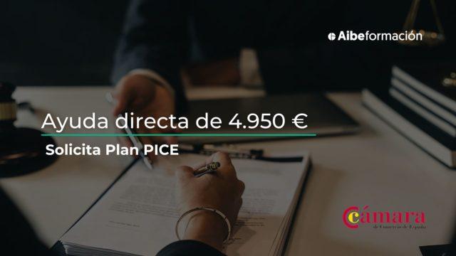 Solicita tu ayuda de 4.950 € para contratar con el Plan PICE