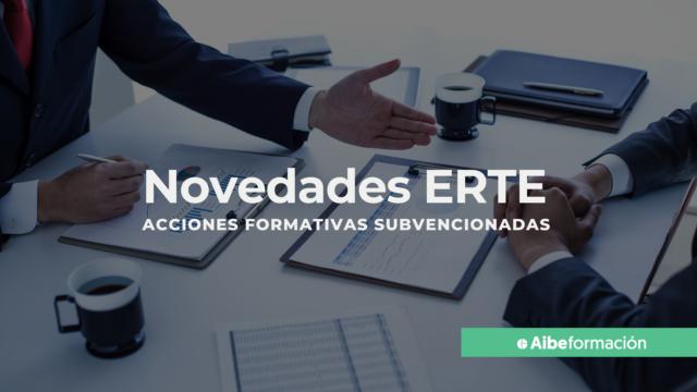 Novedades de ERTE: acciones formativas subvencionadas